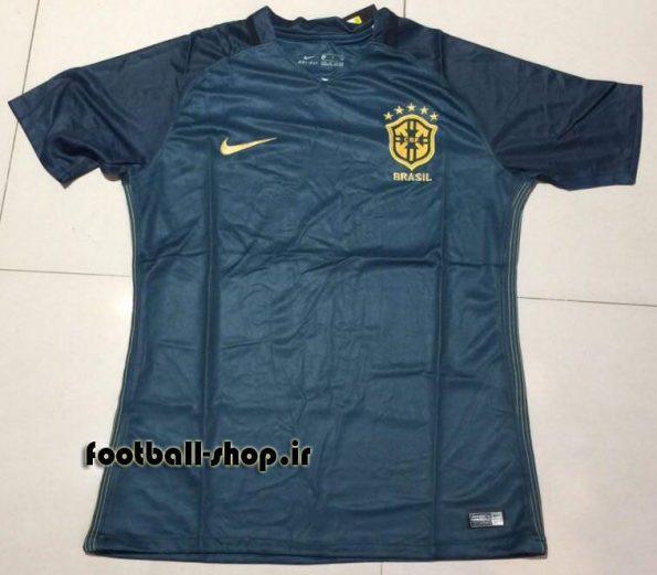 پیراهن دوم سرمه ای اورجینال 2018 برزیل-Nike