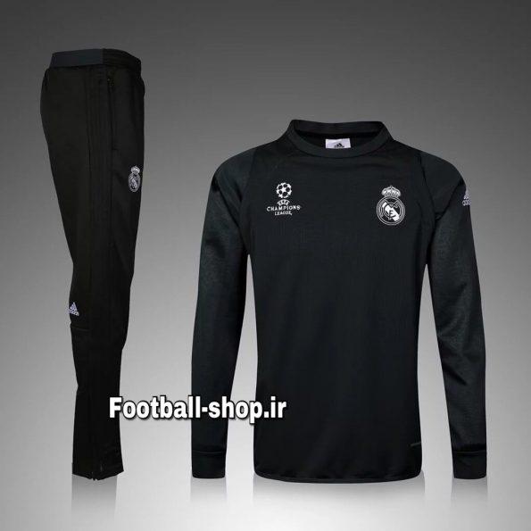 ست سویشرت شلوار حرفه ای اورجینال رئال مادرید مشکی2-Adidas