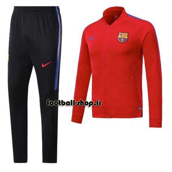 ست گرمکن شلوار حرفه ای قرمزمشکی 2018 اورجینال بارسلونا-Nike