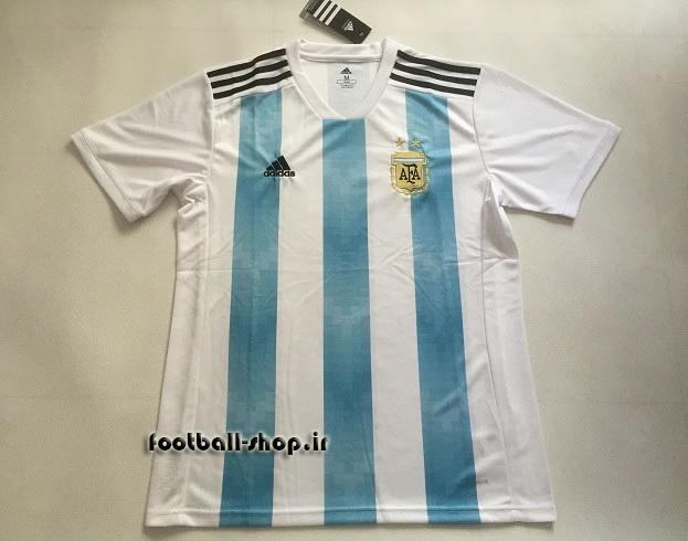 پیراهن اول اورجینال آستین کوتاه 2018 آرژانتین-بی نام-Adidas