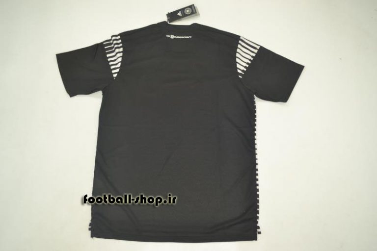 پیراهن هواداری مشکی اورجینال آستین کوتاه 2018 آلمان-Adidas