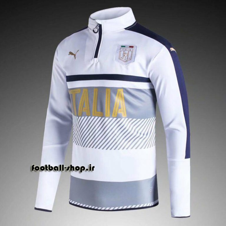 ست سویشرت شلوار حرفه ای سفید طلایی 2018 اورجینال ایتالیا-Puma
