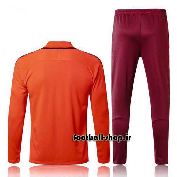 ست سویشرت شلوار حرفه ای نارنجی قرمز 2018 اورجینال بارسلونا-Nike