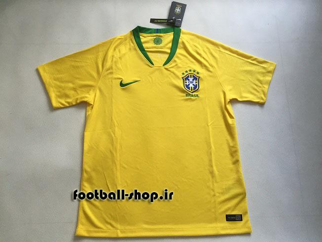 پیراهن اول اورجینال آستین کوتاه 2018 برزیل-بی نام-Nike