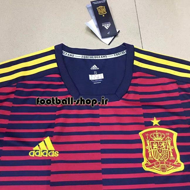 پیراهن اورجینال هواداری آستین کوتاه 2018 اسپانیا-Adidas