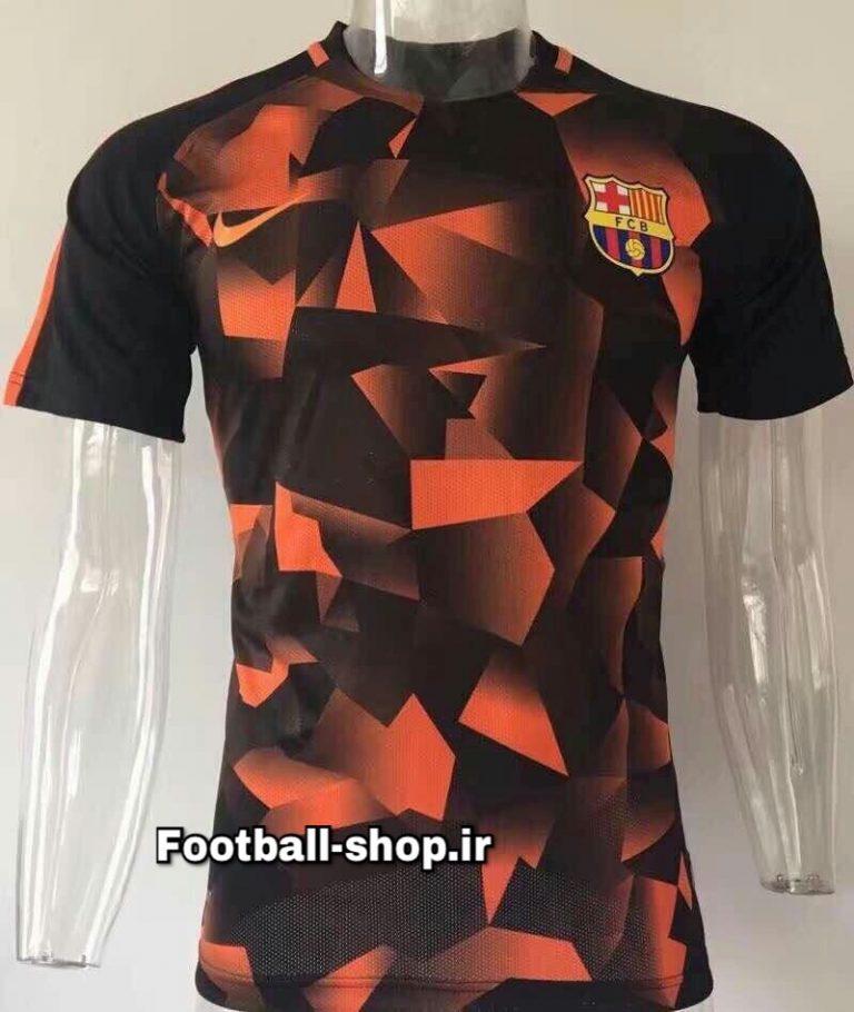 پولوشرت اورجینال مشکی نارنجی بارسلونا-Nike