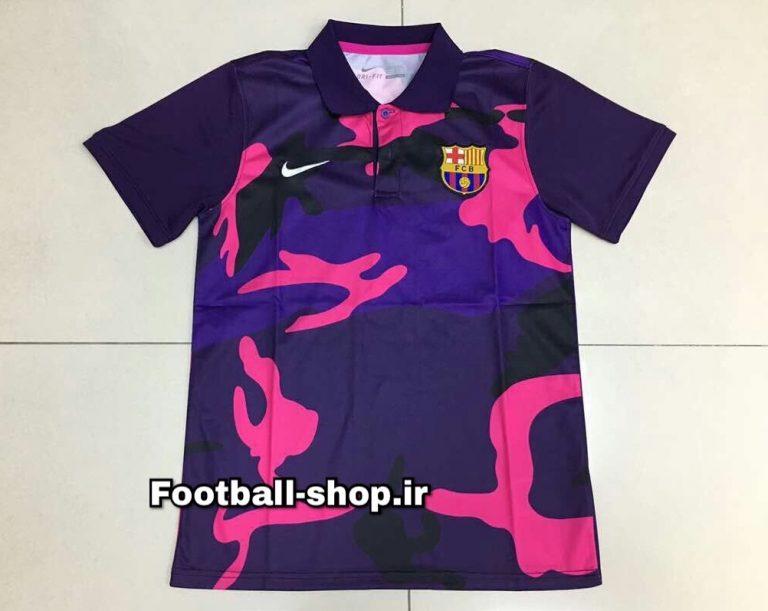 پولوشرت اورجینال چریکی بنفش بارسلونا-Nike