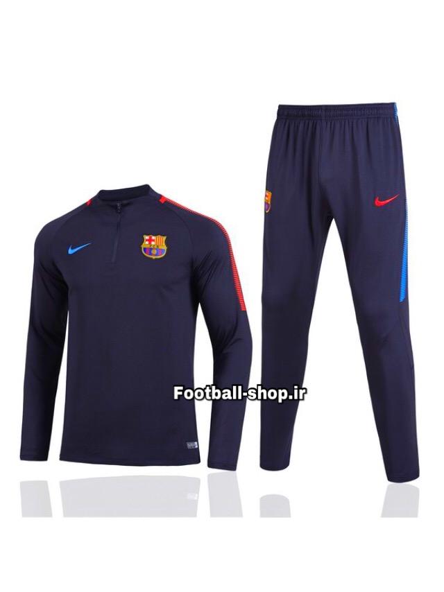 ست سویشرت شلوار حرفه ای سرمه ای اورجینال بارسلونا-Nike