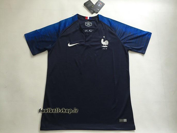 پیراهن اول اورجینال آستین کوتاه جام جهانی 2018 فرانسه-Nike