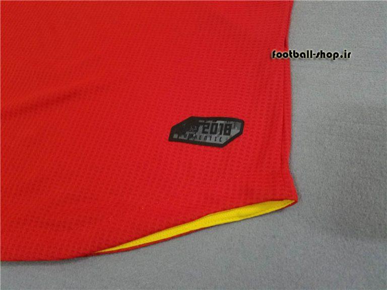 پیراهن اول اورجینال قرمز 2018 اسپانیا-Adidas-ورژن بازیکن(Player)