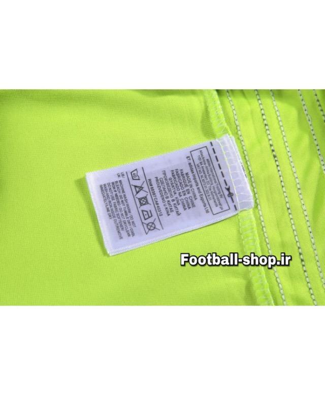 ست پیراهن شلوارک حرفه ای فسفری اورجینال آلمان-Adidas