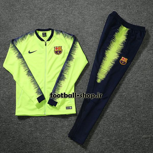 ست گرمکن شلوار حرفه ای سبزفسفری اریجینال بارسلونا-Nike