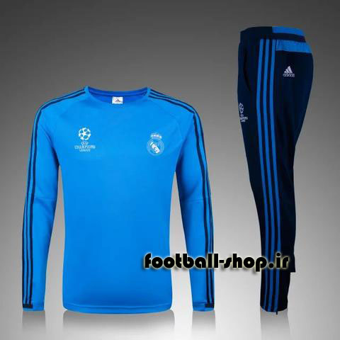 ست سویشرت شلوار حرفه ای آبی 2018 اورجینال رئال مادرید-Adidas