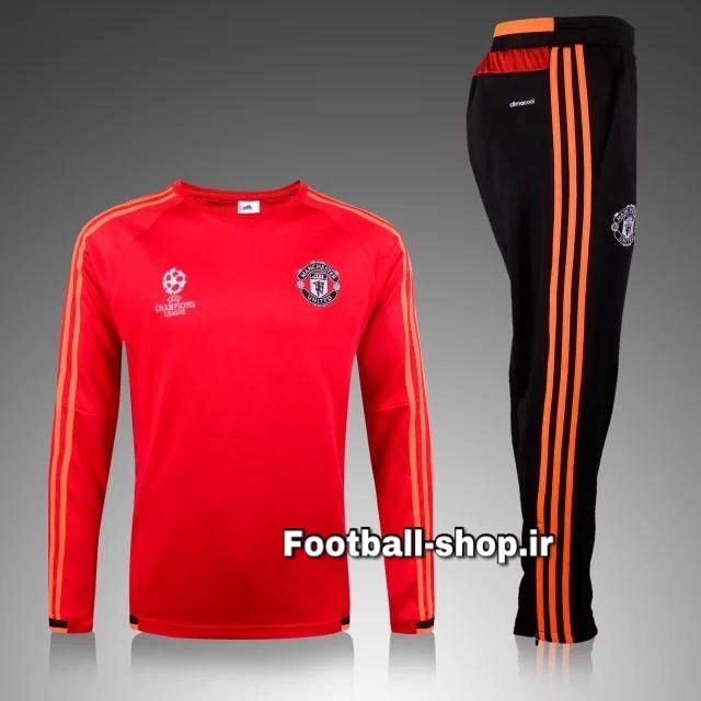 ست سویشرت شلوار حرفه ای قرمز اورجینال منچستریونایتد-Adidas