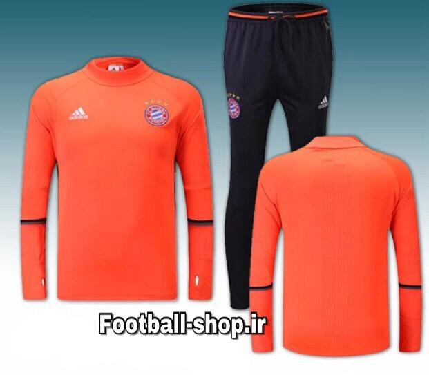 ست سویشرت شلوار حرفه ای نارنجی اورجینال بایرن-Adidas