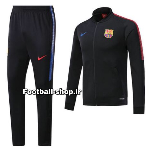 ست گرمکن شلوار حرفه ای مشکی اورجینال بارسلونا-Nike