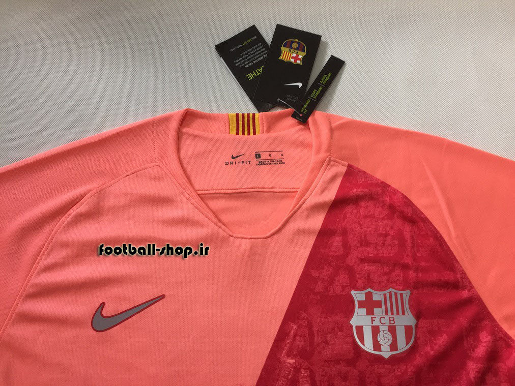 پیراهن سوم آستین کوتاه اریجینال بارسلونا 2018/19-بی نام-Nike