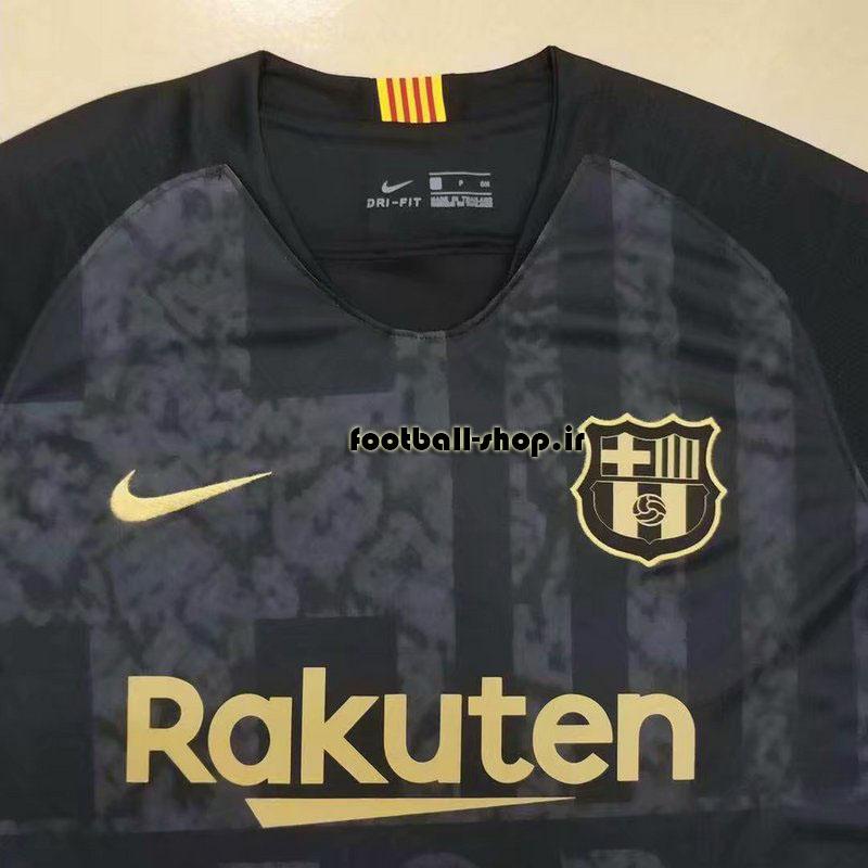 پیراهن هواداری مشکی طلایی آستین کوتاه اریجینال بارسلونا2019-بی نام-Nike