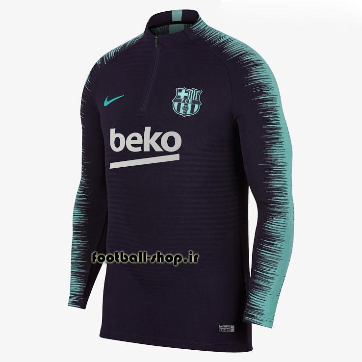 ست سویشرت شلوار حرفه ای سرمه ای آبی اورجینال بارسلونا-Nike