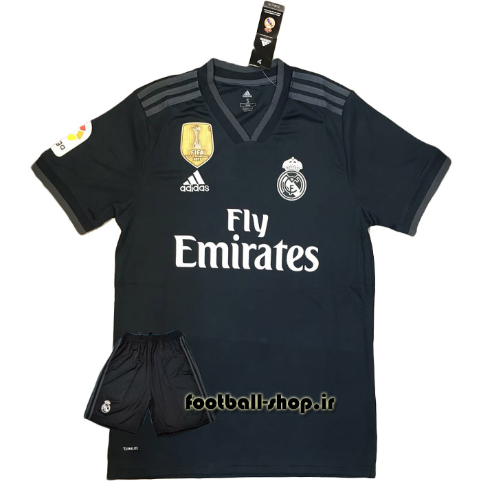 ست پیراهن و شورت دوم اورجینال 2018-2019 رئال-بی نام-Adidas
