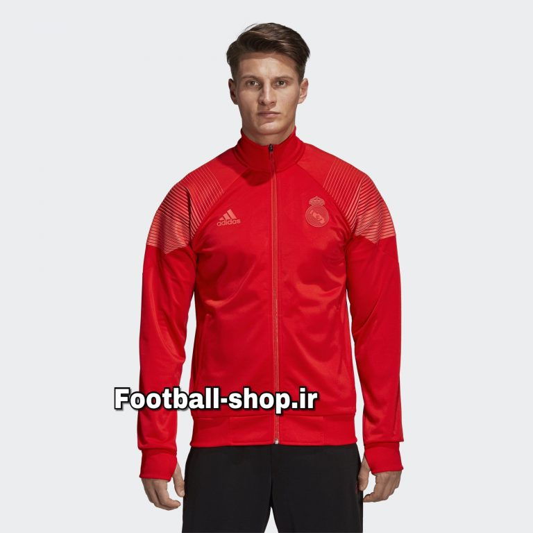 ست گرمکن شلوار حرفه ای قرمز مشکی 2019 اورجینال رئال-Adidas