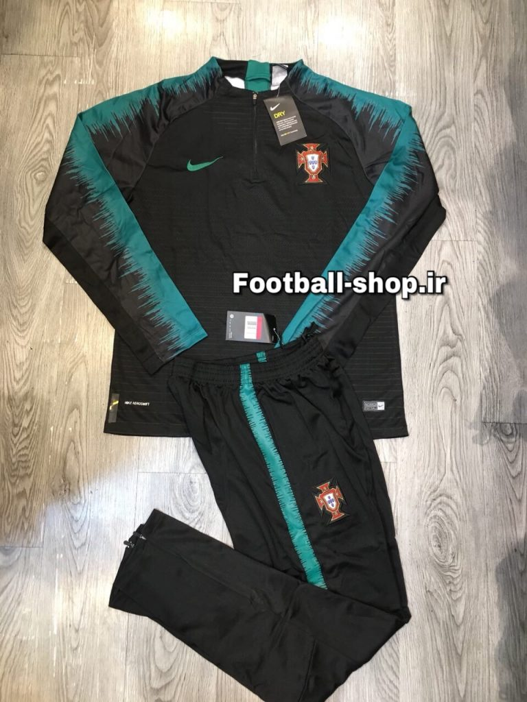 ست سویشرت شلوار حرفه ای مشکی آبی 2019 اورجینال پرتغال-Nike