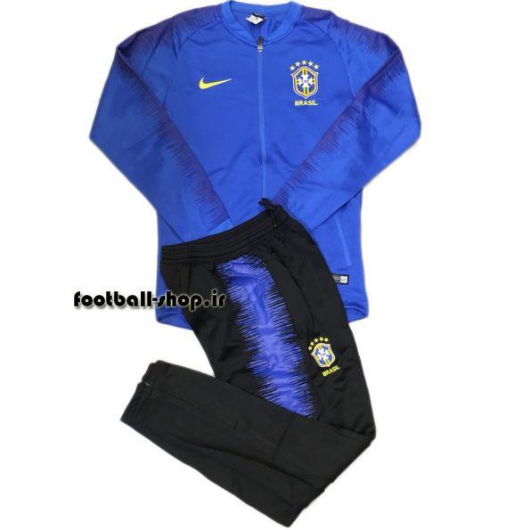 ست گرمکن شلوار حرفه ای آبی مشکی 2019 اورجینال برزیل-Nike