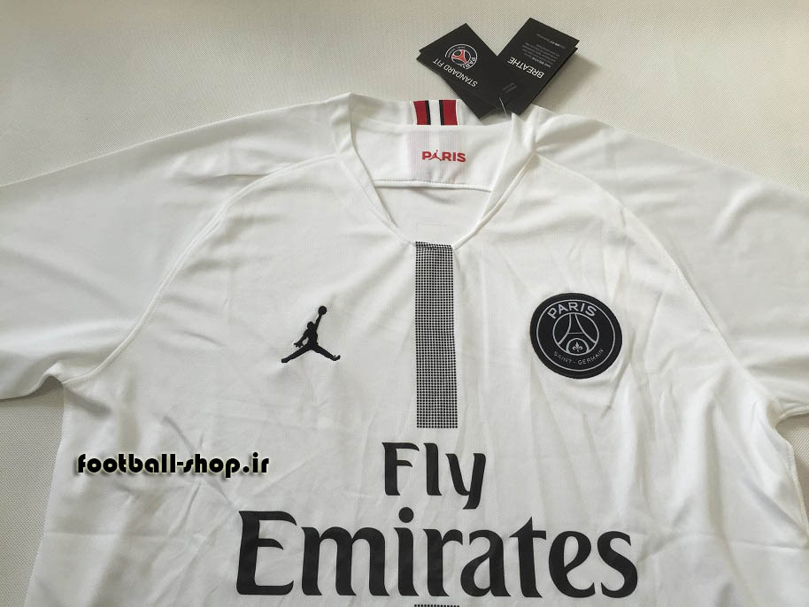 پیراهن سفید اروپایی آستین کوتاه اریجینال پاری سن ژرمن2019-بی نام-Jordan