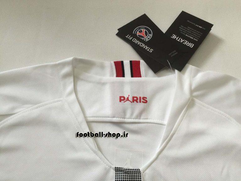 پیراهن سفید اروپایی اریجینال +A پاری سن ژرمن2019-Jordan