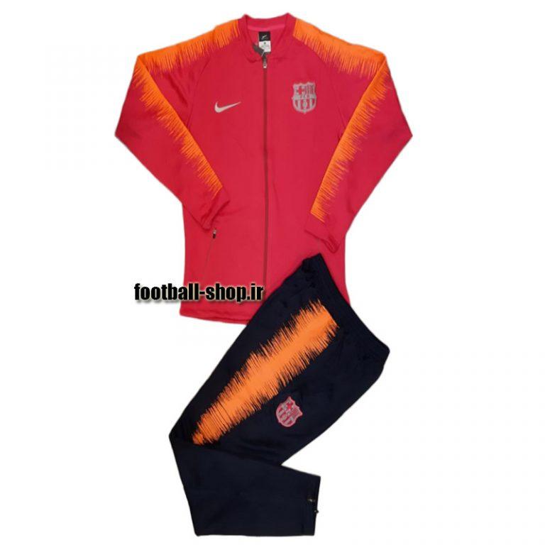 ست گرمکن شلوار حرفه ای قرمز 2019 اورجینال بارسلونا-NIKE