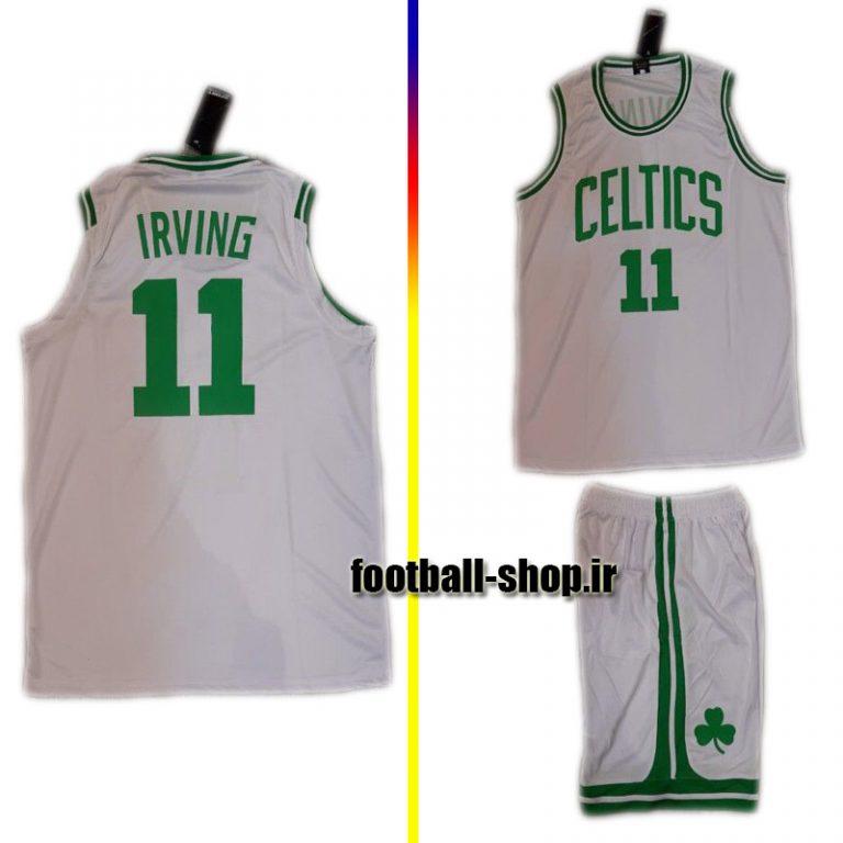 پیراهن و شورت سفید بسکتبال تیم بوستون سلتیکس 2020 | کایری ایروینگ ۱۱#