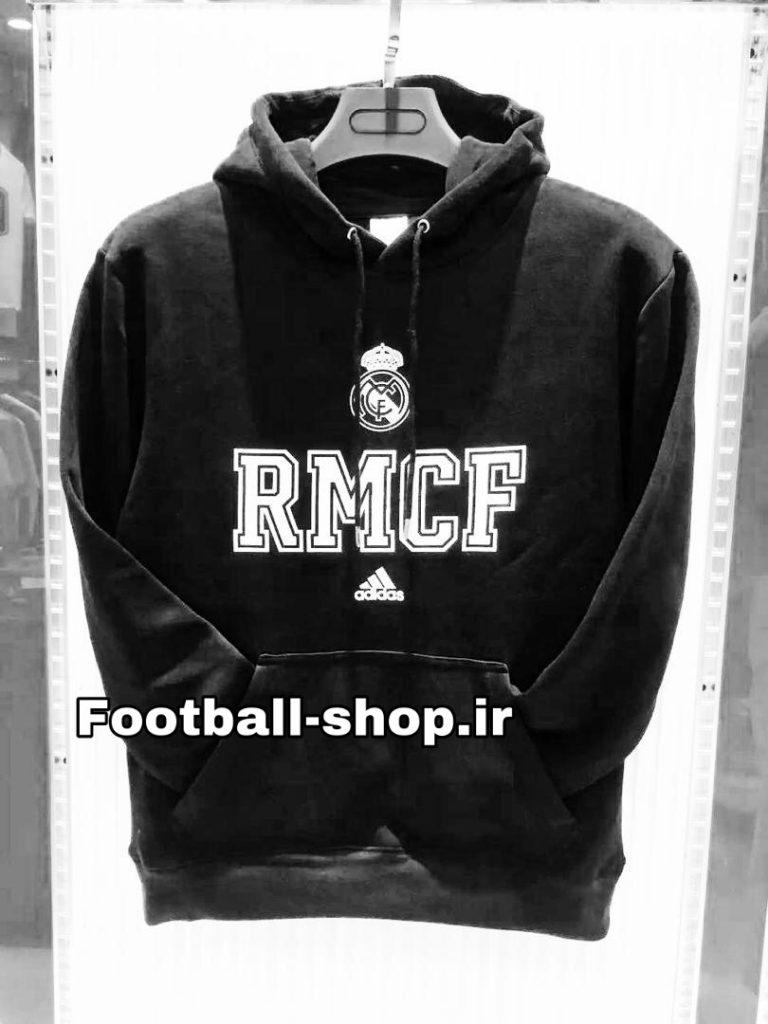 هودی کلاه دارحرفه ای مشکی اورجینال 2019 رئال مادرید-Adidas