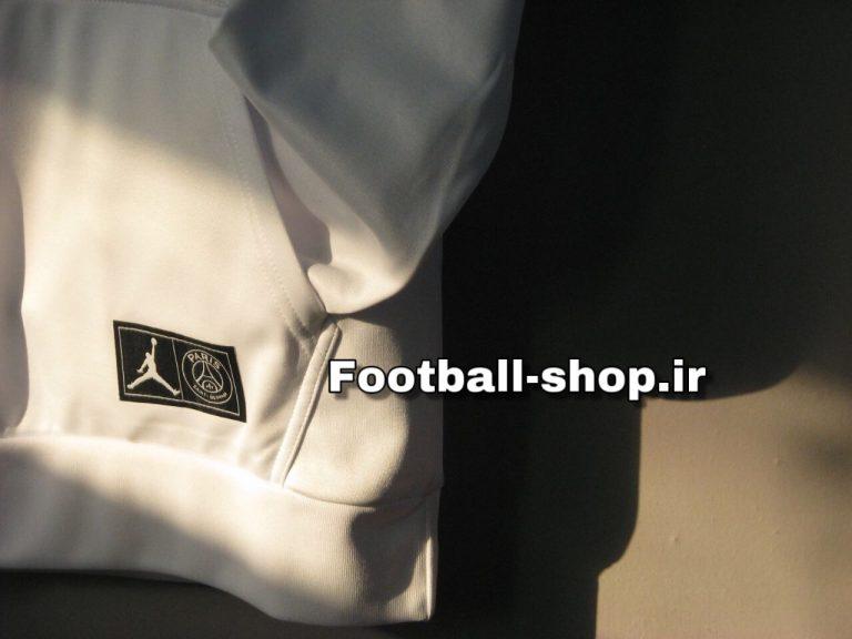 هودی کلاه دارحرفه ای سفید اورجینال 2019 پاری سن ژرمن-Nike