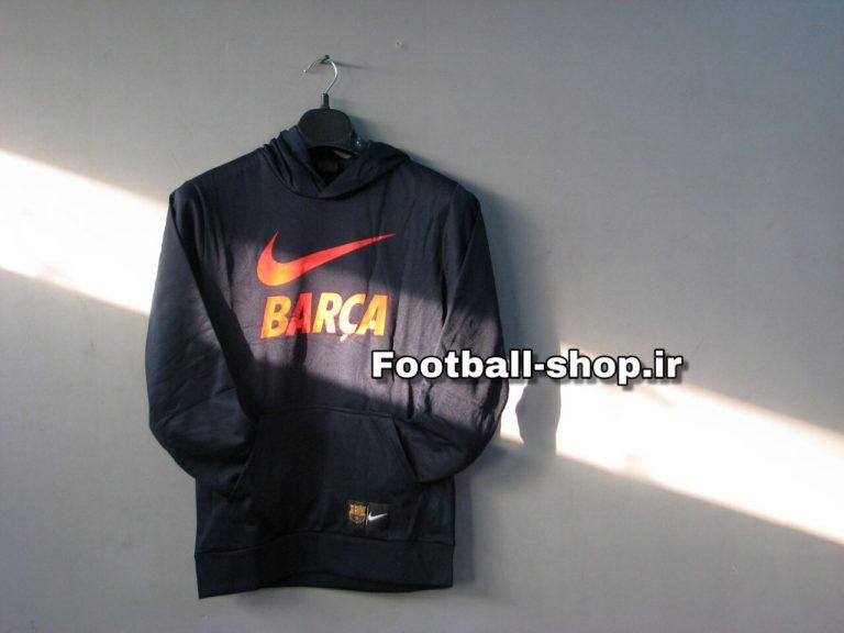 هودی کلاه دارحرفه ای سرمه ای اورجینال 2019 بارسلونا-Nike