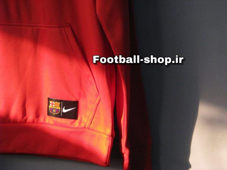 هودی کلاه دارحرفه ای قرمز اورجینال 2019 بارسلونا-Nike