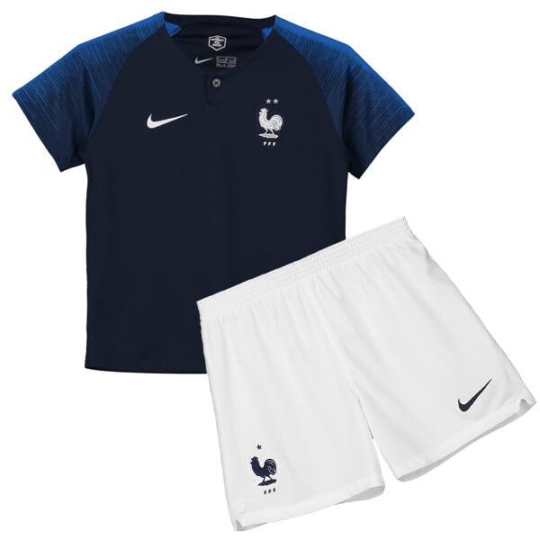 پیراهن شورت اول اریجینال فرانسه (بچه گانه)2018/19-Nike
