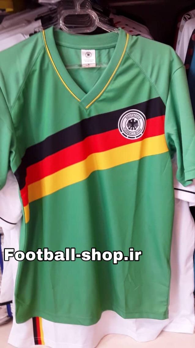 پیراهن سبز آلمان طرح کلاسیک یقه هفت-TURK