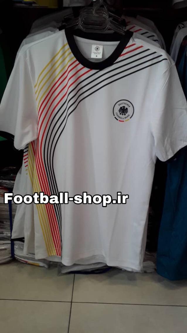 پیراهن سفید آلمان طرح کلاسیک یقه گرد-TURK