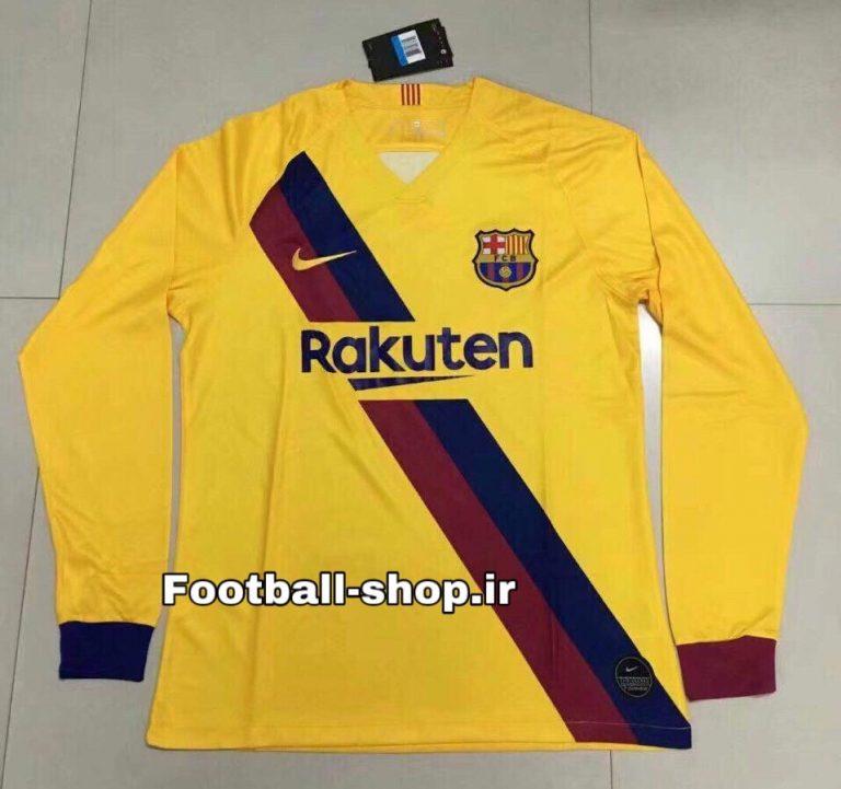 پیراهن دوم آستین بلند اورجینال درجه یک 2019-2020 بارسلونا-بی نام-Nike