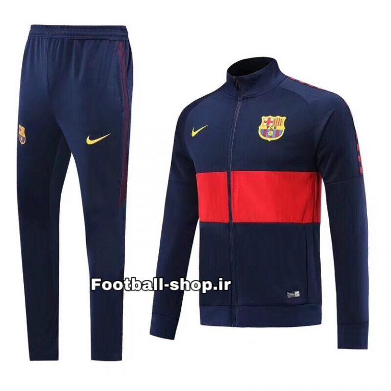 گرمکن شلوار اریجینال سرمه ای و اناری درجه یک 2020 بارسلونا-Nike