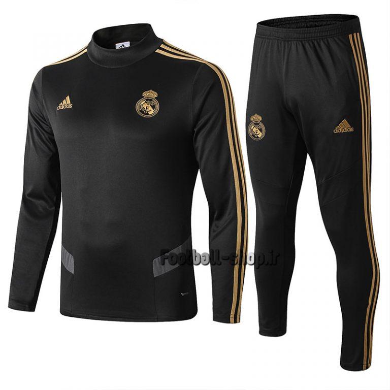 سویشرت شلوار گرید یک +A مشکی طلایی 2020 رئال مادرید-Adidas