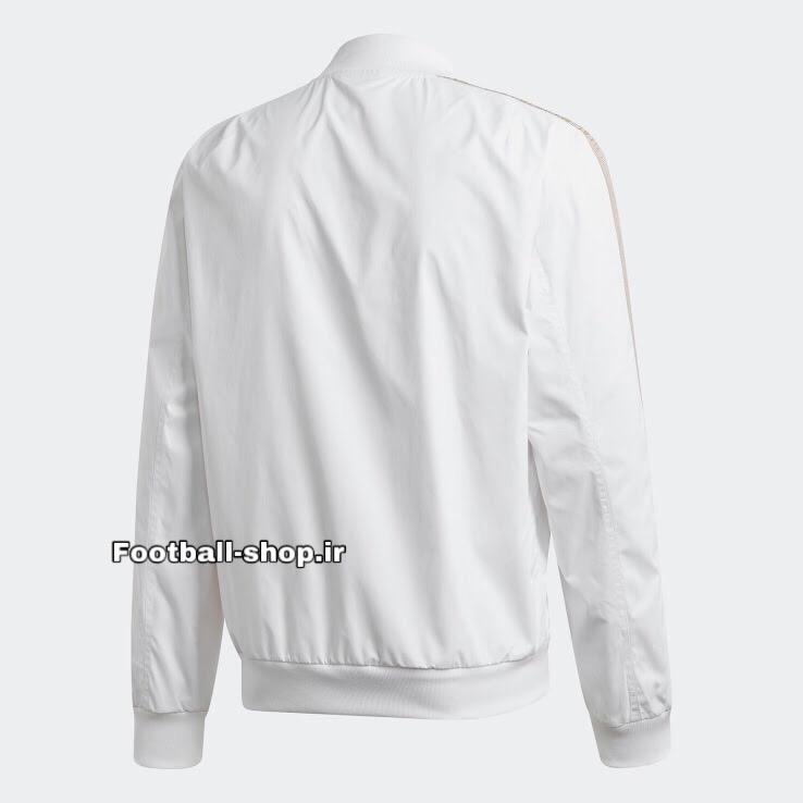 گرمکن شلوار سفیدمشکی +A اورجینال 2020 رئال مادرید-Adidas