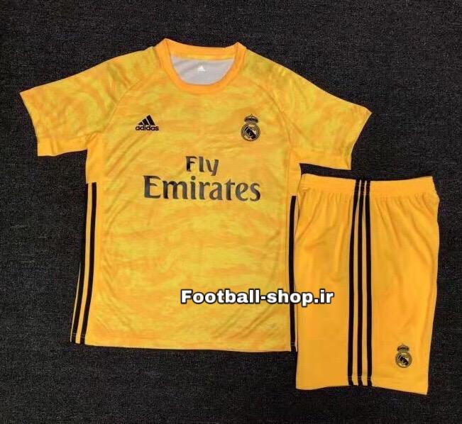 پیراهن شورت گلری زرد+A اریجینال رئال(بچه گانه)2020-Adidas