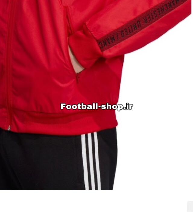 گرمکن شلوار قرمزمشکی +A اورجینال 2020 منچستریونایتد-Adidas