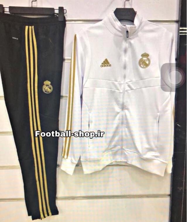 گرمکن شلوار سفید مشکی اورجینال 2020 رئال مادرید-Adidas
