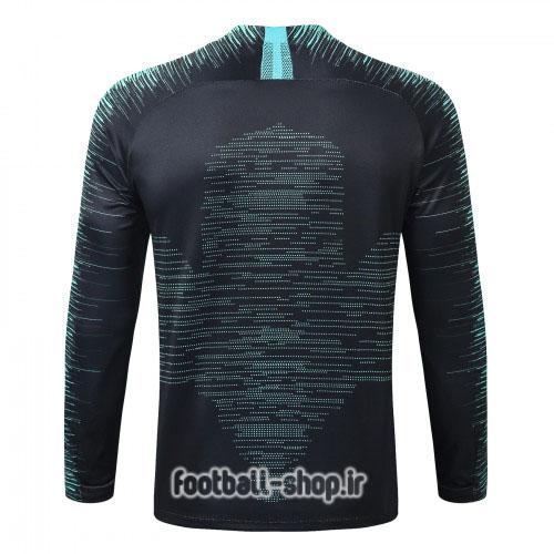 سویشرت شلوار مشکی آبی اورجینال 2020 بارسلونا-Nike