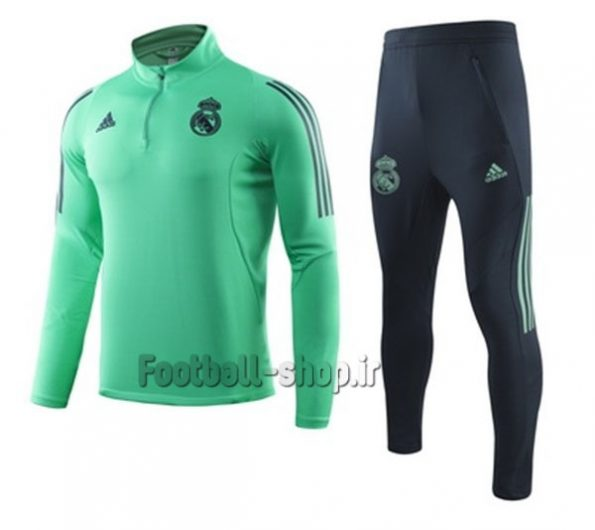 سویشرت شلوار گرید یک +A سبزسرمه ای 2020 رئال مادرید-Adidas