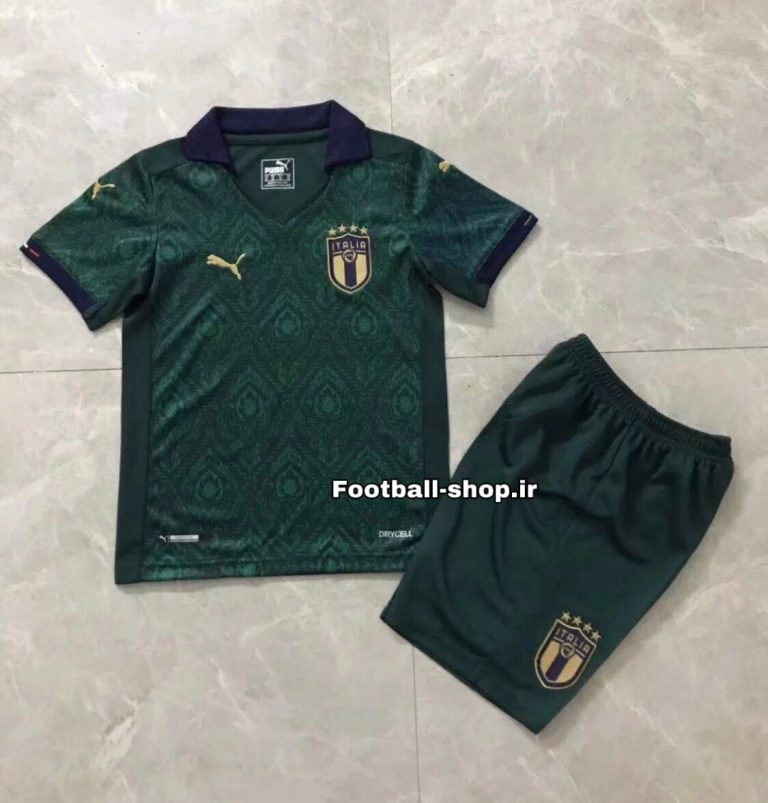 "پیراهن و شورت سوم ""بچه گانه"" اورجینال یورو 2021 ایتالیا-Puma"