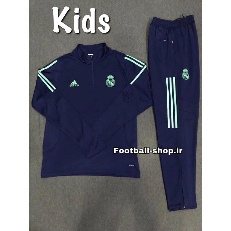 سویشرت شلوارنیم زیپ سرمه ای(بچه گانه)رئال مادرید2020-Adidas
