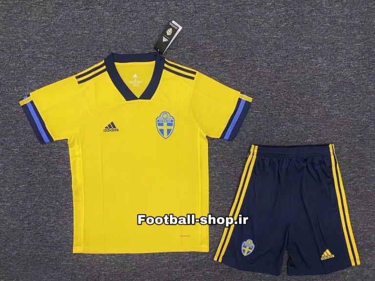 پیراهن و شورت اول آستین کوتاه اورجینال یورو 2020 سوئد-Adidas